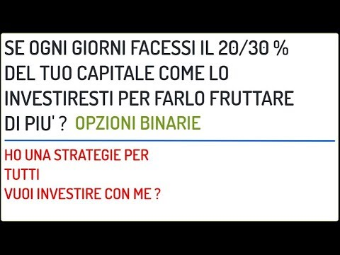 video corso di strategia di opzioni binarie guadagni su Internet in unora