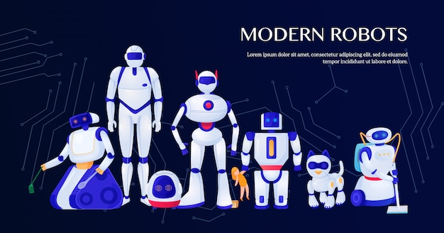 moderno robot commerciale