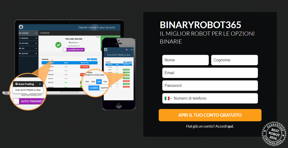 Robot Binary Options Auto - Robot Binary