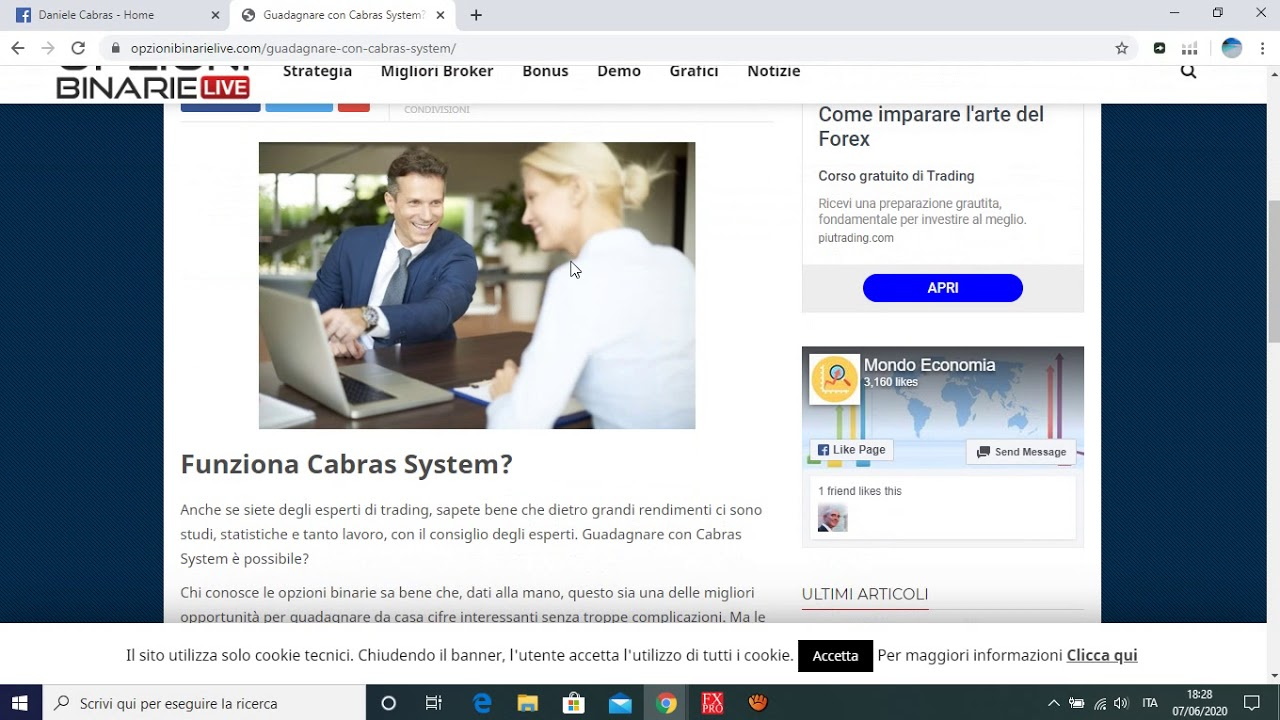 Opzioni binarie strategia di scalping trading binario